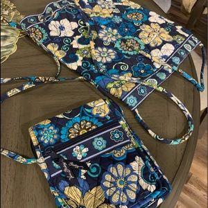 Vera Bradley crossbody and drawstring backpack